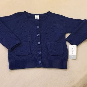 NWT Carter's Knit button up sweater, size 3t